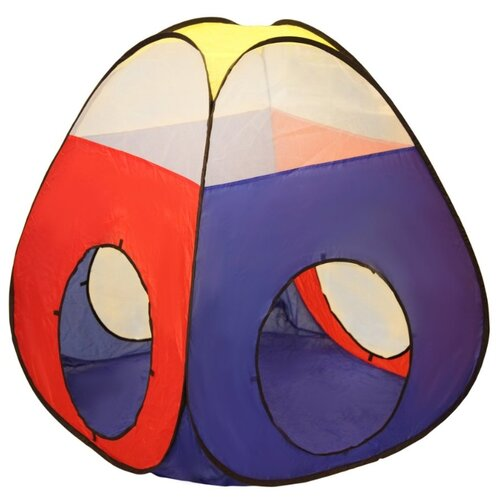 Фото - Палатка Наша игрушка Конус 985-Q75, синий/красный/желтый растяжка наша игрушка 2203 красный желтый синий