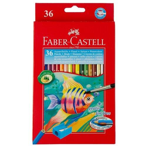 Faber-Castell Акварельные карандаши 36 цветов (114437) карандаши акварельные faber castell albrecht durer 36 цветов 117536