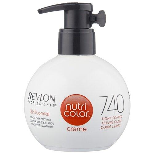 Крем Revlon Professional Nutri Color 3 in 1 cocktail 740 Light Copper, 270 мл revlon крем краска nutri color creme 270 мл