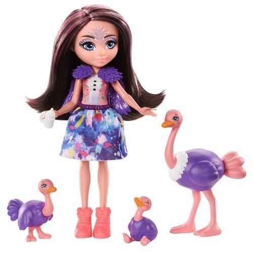 Купить Игровой набор Enchantimals Офелия Страусси с семьей, GTM32, Куклы и пупсы