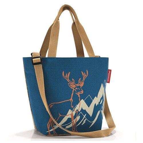 Сумка тоут reisenthel, текстиль, синий/коричневый сумка тоут david jones 5130 cm текстиль синий