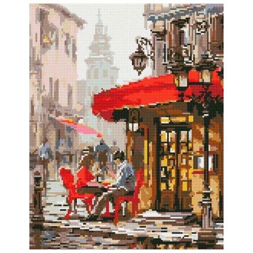 Алмазная вышивка Цветной Влюбленные в кафе, 50x40
