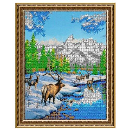 Светлица Набор для вышивания бисером Олени зимой 25,2 х 31,1 см, бисер Чехия (361)Наборы для вышивания<br>