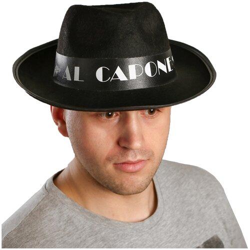 Карнавальная шляпа «Алькапоне» карнавальная шляпа смехторг с пайетками