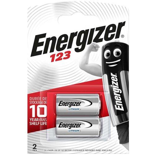 Фото - Батарейка Energizer CR123, 2 шт. серебряно цинковая батарейка для часов energizer 371 2 шт