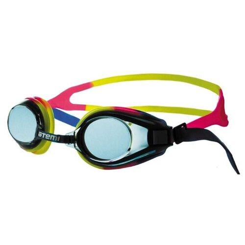 Фото - Очки для плавания ATEMI M105 синий/розовый/желтый очки маска для плавания atemi z401 z402 синий серый