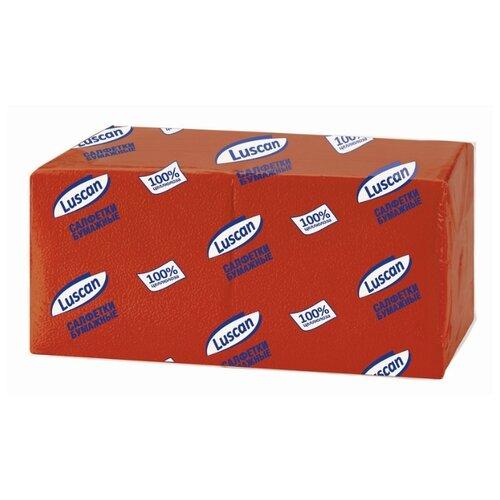 Купить Салфетки бумажные Luscan Profi Pack 1 слой, 24х24 красные 400шт/уп