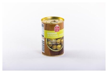 Fine Life Оливки зеленые фаршированные лимоном, 300 г