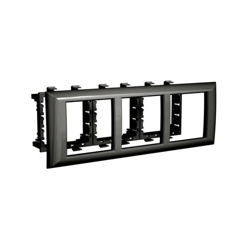 Фото - Лицевая накладка/ суппорт с рамкой для монтажа эуи в настенном кабель-канале DKC 4402916 суппорт legrand 653178 для монтажа механизмов эуи 2 3 модуля