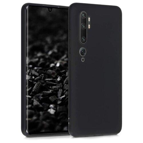 Матовый чехол для Xiaomi Note 10 Pro, Mi Note 10 и CC9 Pro / Силиконовый чехол на Сяоми Ми Нот 10, Нот 10 Про и СС9 Про (Черный)