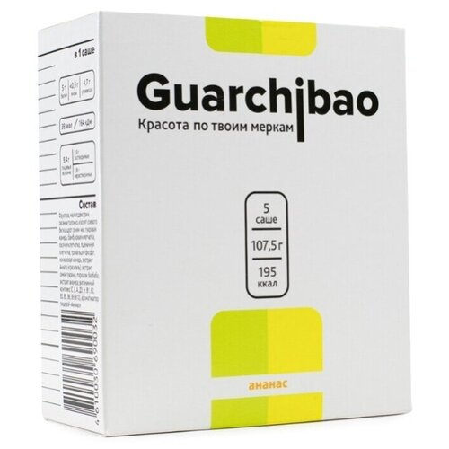Guarchibao Фитококтейль Sachets со вкусом Ананас, 5 шт. в упаковке, 107.5 г