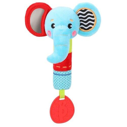 Купить Прорезыватель-погремушка Жирафики Слоник 939704 голубой/красный, Погремушки и прорезыватели