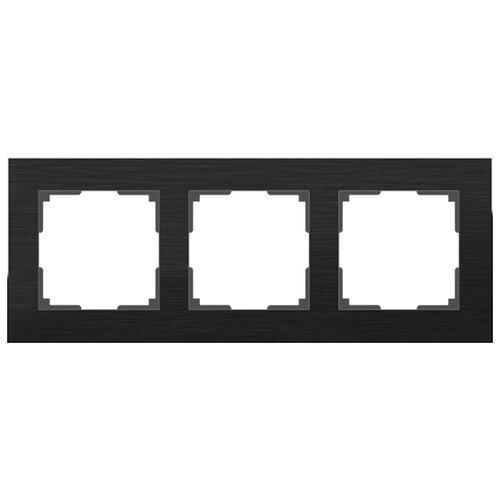 Рамка 3п Werkel WL11-Frame-03, черный алюминий рамка werkel aluminium алюминий коричневый wl11 frame 05