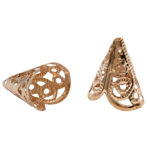 Купить Шапочка для бусин 4AR212, 18мм 30шт/упак, Астра (Золото), Astra & Craft, Фурнитура для украшений
