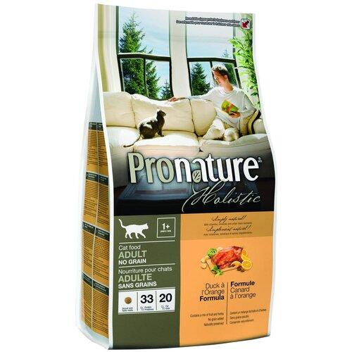 Сухой корм для кошек ProNature Holistic беззерновой, с уткой, с апельсином 2.72 кг