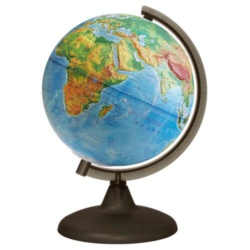 Глобус физический Глобусный мир 210 мм (10005) коричневый