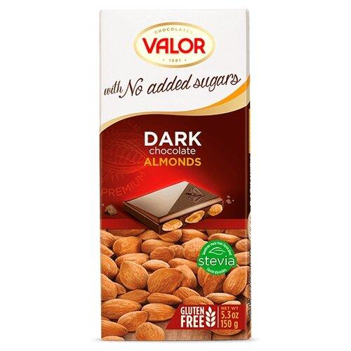 Шоколад Valor темный без сахара с миндалем, 150 г туфли valor wolf valor wolf va090amfcku8
