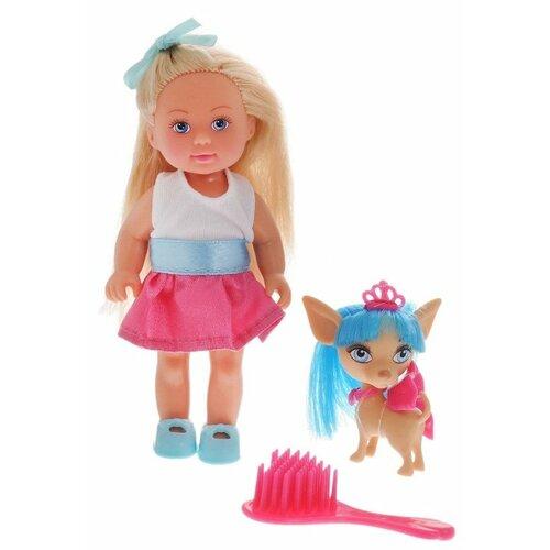 Купить Кукла Simba Еви со стильной собачкой 12 см 5730944, Куклы и пупсы