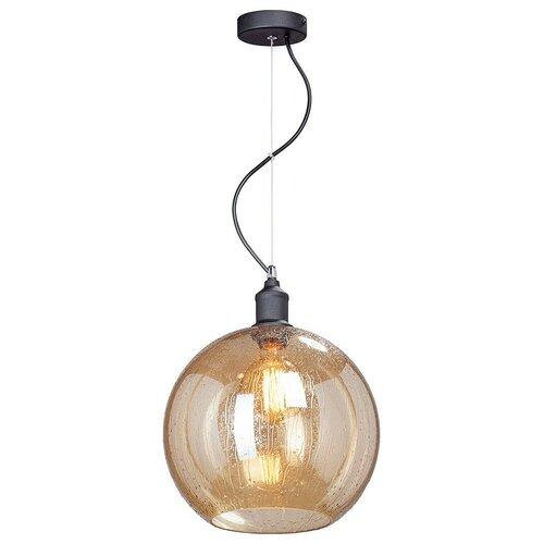 Фото - Потолочный светильник Vitaluce V4846-1/1S, E27, 40 Вт, кол-во ламп: 1 шт., цвет арматуры: черный, цвет плафона: коричневый светильник vitaluce v4849 1 1s e27 40 вт