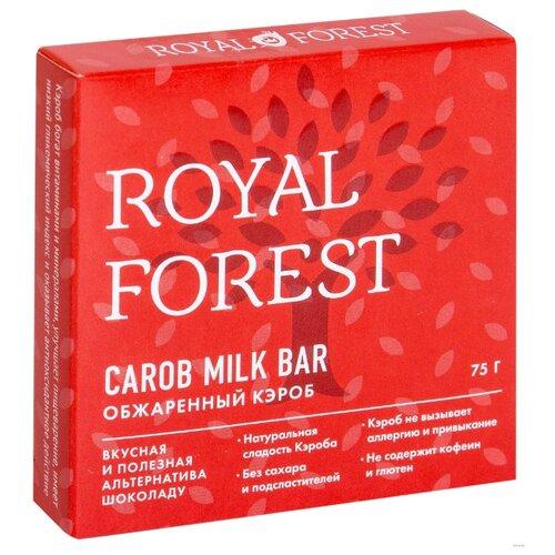 ROYAL FOREST Carob milk bar кэроб плитка обжаренный коробка, 75 г фото