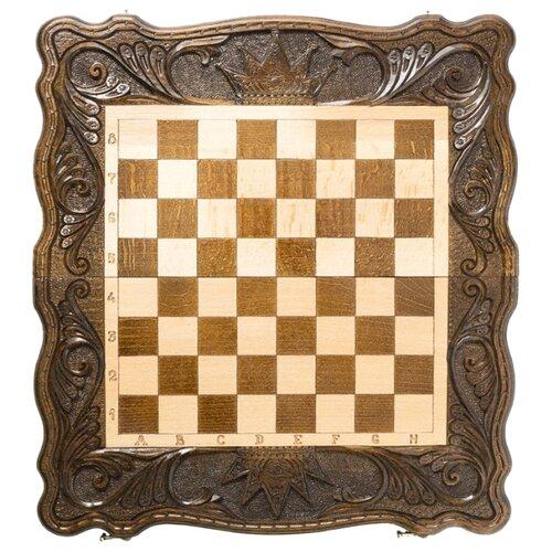 Haleyan Шахматы + нарды резные Корона 50