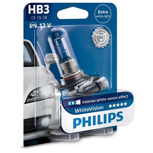 цена на Лампа автомобильная галогенная Philips White Vision 9005WHVB1 HB3 12V 60W 1 шт.