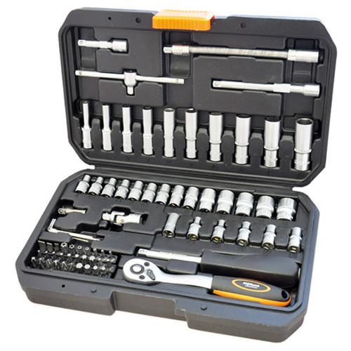 Набор инструментов AVSteel AV-011472, 72 предм., черный/оранжевый набор инструментов avsteel av 011056 56 предм черный оранжевый