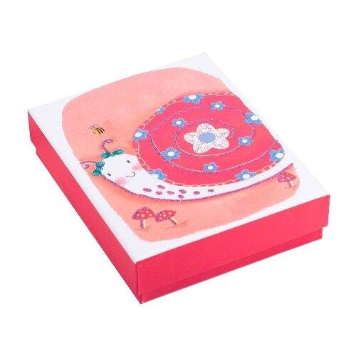 Коробка подарочная Yiwu Zhousima Crafts Улитка 12 х 3.5 х 14 см розовый