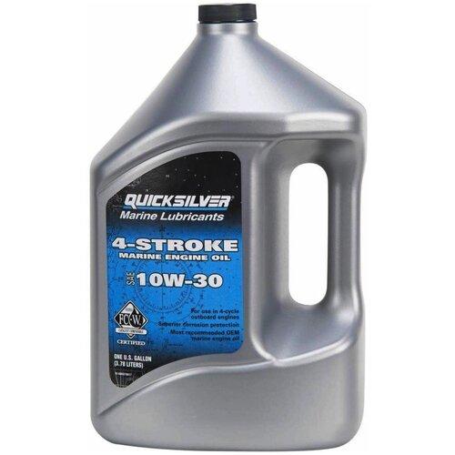Минеральное моторное масло Quicksilver 4-Stroke Marine 10W-30, 4 л