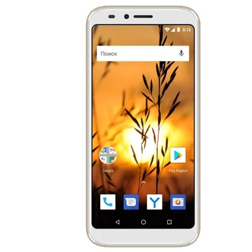 Смартфон VERTEX Impress Sunset NFC золотистый смартфон vertex impress click nfc 3g 1 8gb gold