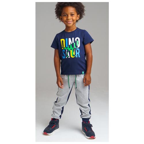 Купить Комплект одежды playToday размер 122, синий/серый, Комплекты и форма