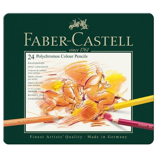Купить Faber-Castell Карандаши цветные Polychromos, 24 цвета (110024), Цветные карандаши