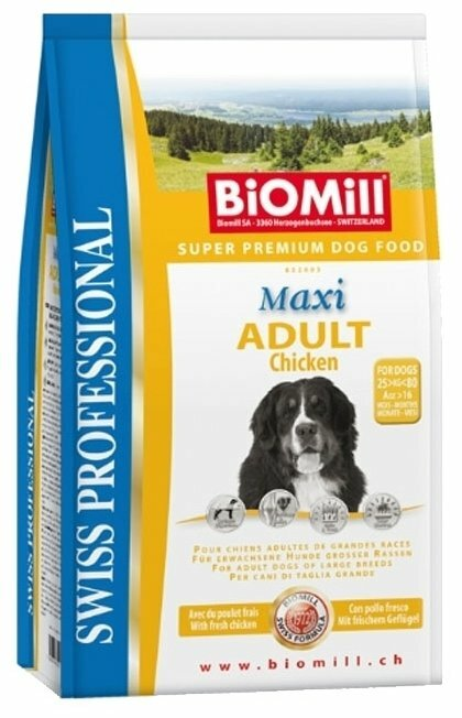 Корм для собак Biomill Swiss Professional Maxi Adult Chicken (12 кг)