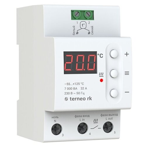 Терморегулятор Terneo RK 32 А белый