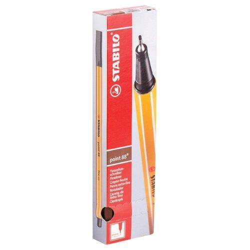 Купить STABILO Набор капиллярных ручек Point 88 0.4 мм, 10 шт., коричневый цвет чернил, Ручки