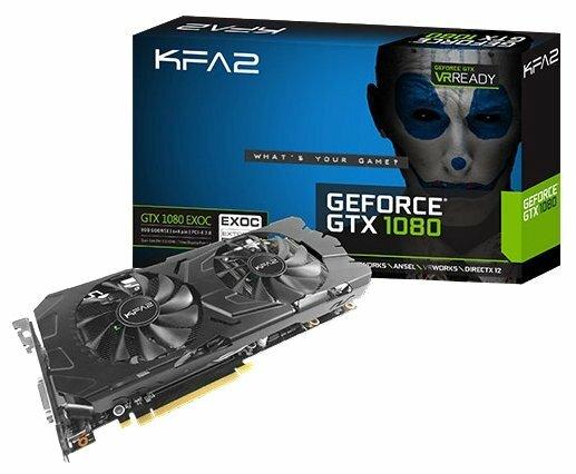 Видеокарта KFA2 GeForce GTX 1080 1657Mhz PCI-E 3.0 8192Mb 10000Mhz 256 bit DVI HDMI HDCP