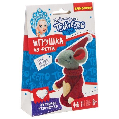 Купить BONDIBON Набор для творчества Ёлочные игрушки своими руками Мышка (ВВ3079), Изготовление кукол и игрушек