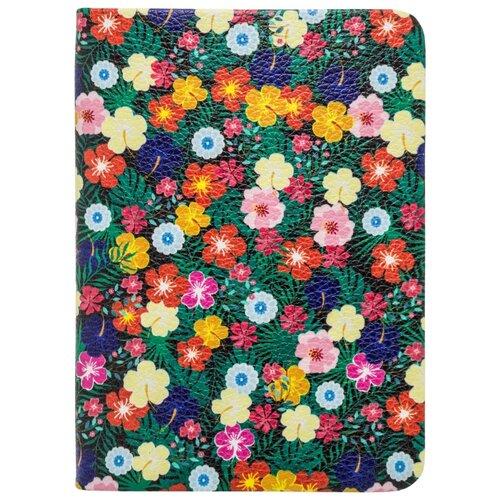 Ежедневник Index Flowers недатированный, искусственная кожа, А6, 96 листов, flowers