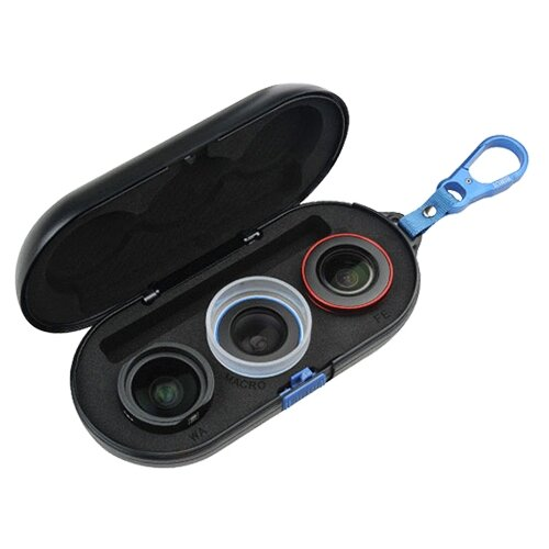 Набор объективов Sirui 18мм wideangle, macro, fisheye черный/красный/черно-белый