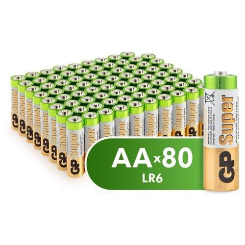 Фото - Батарейка GP Super Alkaline AA 80 шт пленка батарейка gp super alkaline aa 16 шт блистер