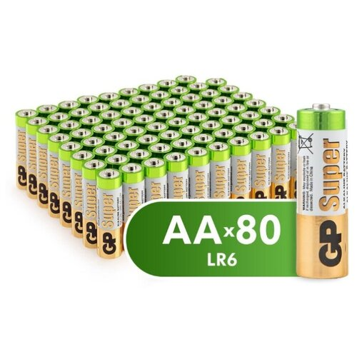 Батарейка GP Super Alkaline AA, 80 шт.