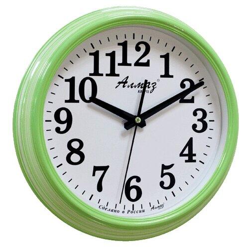 Часы настенные кварцевые Алмаз A79-A85 светло-зеленый/белый часы настенные кварцевые алмаз a79 a85 бежевый белый