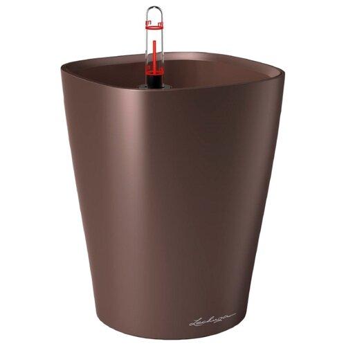цена на Кашпо LECHUZA DELTINI настольное с автополивом с субстратом в комплекте 15х15х19 см кофе