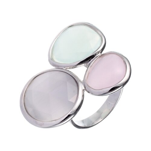 JV Кольцо с стеклом из серебра B3125RD-US-003-WG, размер 17 jv кольцо с ювелирным стеклом из серебра b3198 us 011 wg размер 17 5