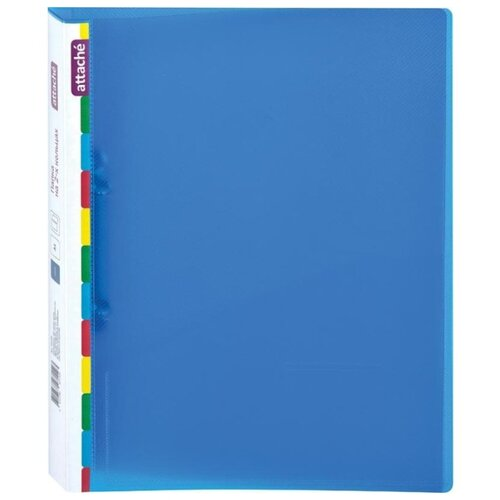 Купить Attache Папка на 2-х кольцах Diagonal A4, пластик, 25 мм синий, Файлы и папки