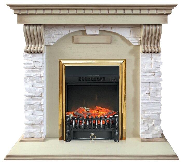 Электрический камин Royal Flame Fobos BR (слоновая кость) Dublin арочный сланец крем