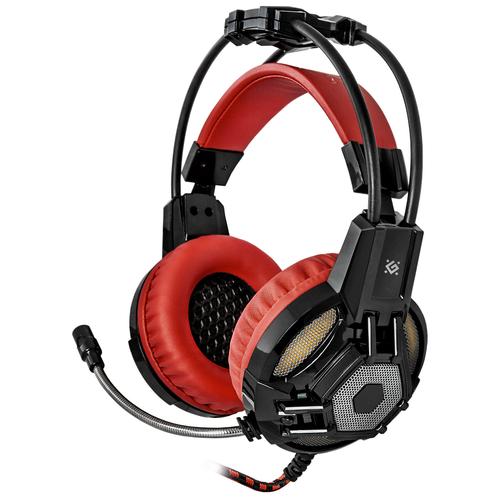 Компьютерная гарнитура Defender Lester черный/красный компьютерная гарнитура defender aspis pro черный красный