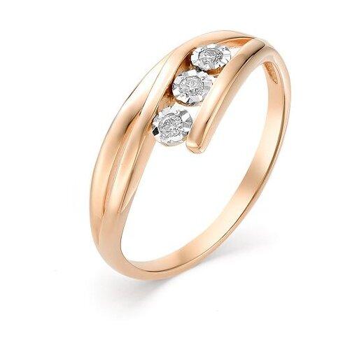 Мастер Бриллиант Кольцо с 3 бриллиантами из красного золота 1-106-452, размер 15 мастер бриллиант кольцо с 6 бриллиантами из красного золота 1 106 567 размер 18 5