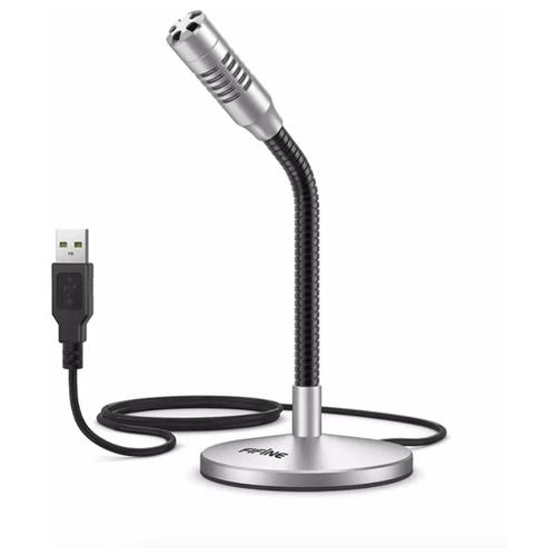 Мини-микрофон FIFINE USB настольный для записи K050S, серебро