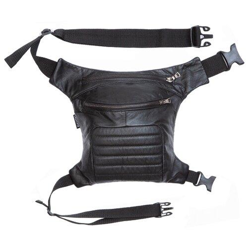 Сумка поясная Lollypie, натуральная кожа, черный сумка поясная dimanche натуральная кожа металлик